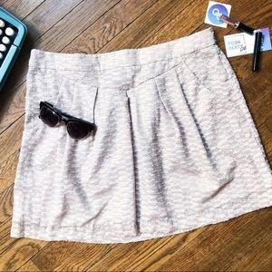 NWOT GAP Rose Gold Textured Mini Skirt